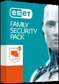 ESET Family Security Pack pro  3 počítače a 3 android zařízení na jeden rok (elektronická licence)